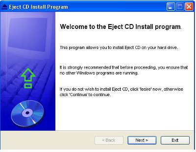 Install eject CD