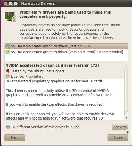 Ubuntu graphics drivers