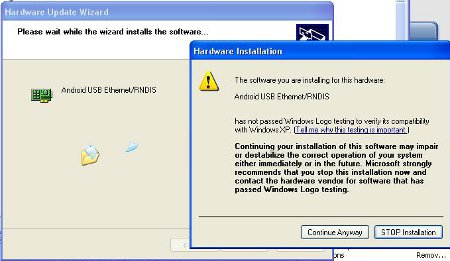 How to install Microsoft RNDIS driver for Windows 7