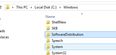 software distribution folder