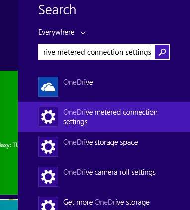Onedrive Metered Settings