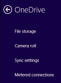 Onedrive sync Settings